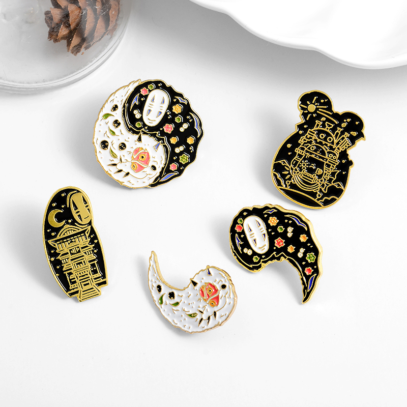 Cartoon Movie Enamel Pin Custom Japanese Anime Brooches Taichi Badge for Bag Lapel Pin Buckle Jewelry Gift for Kids Friends 5