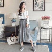 цены на 2019 new fashion maternity lace knit skirt care belly stretch fancy skirt for pregnant women prgnancy clothing plus  в интернет-магазинах