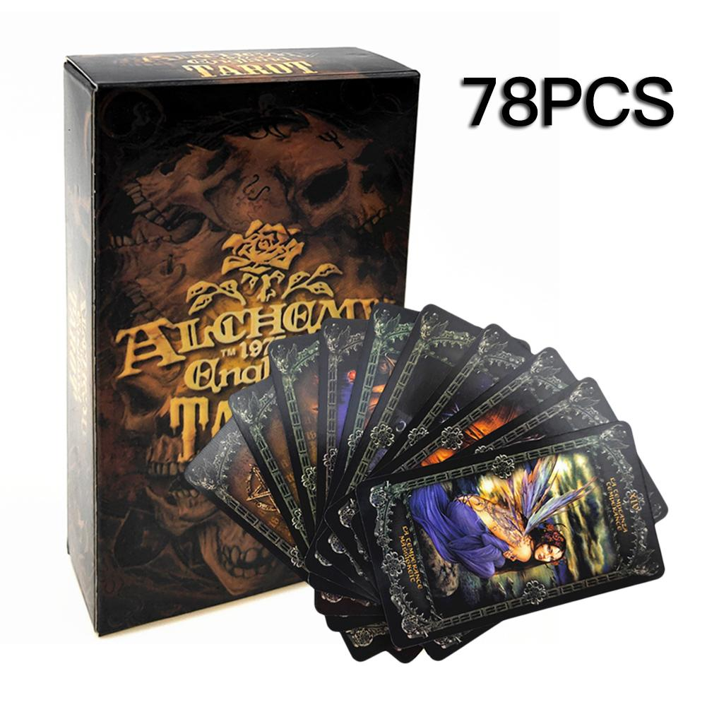 78PCS Tarot Deck Board Game Cards Tarot Cards Deck Fantasy Gothic Tarot Cards For Alch Emy 1977 EnglandLY Tarot Divination Game