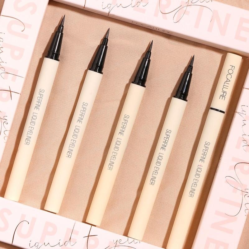 FOCALLURE black liquid eyeliner pencil waterproof 24 hours long lasting eye makeup smooth easy to wear Eye liner pen 1
