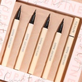 FOCALLURE Black Liquid Eyeliner Pencil Waterproof  24 hours Long Lasting Eye Makeup smooth Superfine Eye Liner Pen