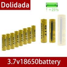 Tr 18650 bateria 3.7v 9900mah bateria recarregável li-ion despeje lanterna led quente nova alta qualidade
