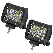 "Quad Row LED Work Light Offroad Spotlight Driving Fog Lamp Truck 4WD Boat 1pc 4"" 72W(China)"