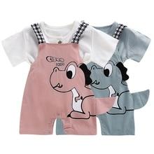 Trousers Overalls Strap-Shorts Suspender Dinosaur Grils Baby-Boys Newborn Infant Summer