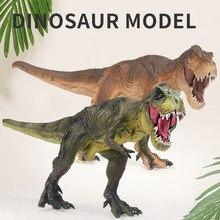 Tamanho grande jurássico vida selvagem dinossauro brinquedos tiranossauro rex mundo parque dinossauro modelo figuras de ação brinquedo para crianças menino coleção