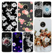 Black White Rose Flower Phone Case Cover For Motorola Moto G8 G7 G6 G5 G5S G4 E6 E5 E4 Power Plus Play One Action Macro Vision C(China)