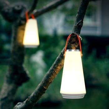 цены LED wireless touch smart night light USB charging portable outdoor camping lamp for bedroom living room bathroom lighting