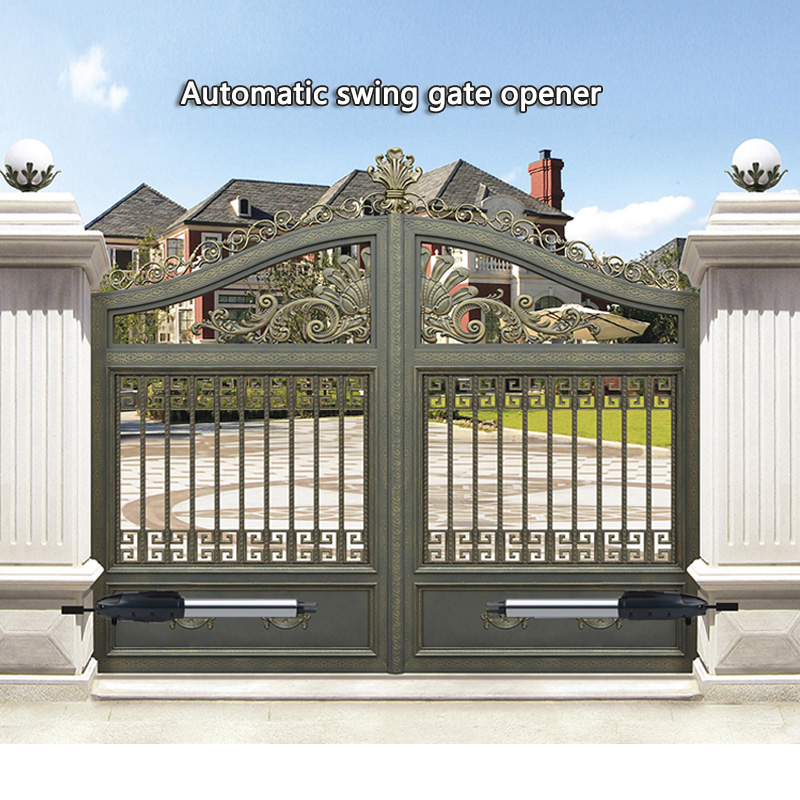Automatic Gate Opener Kit Medium Duty Dual Gate Operator For Dual Swing Gates Up To 16 Feet Or 800 Pounds, Gate Motor