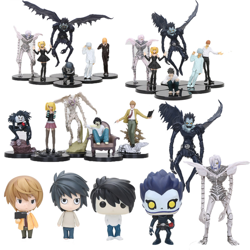 Anime Death Note Figure Toy Deathnote  L Killer Ryuuku Ryuuku Rem Misa Amane PVC Figure Vinyl Dolls Collection Model Toys