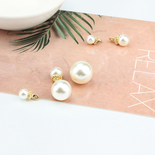 6pcs  white imitation pearl beads half hole round bead diy vintage simulated pendant necklace for women chain jewelry