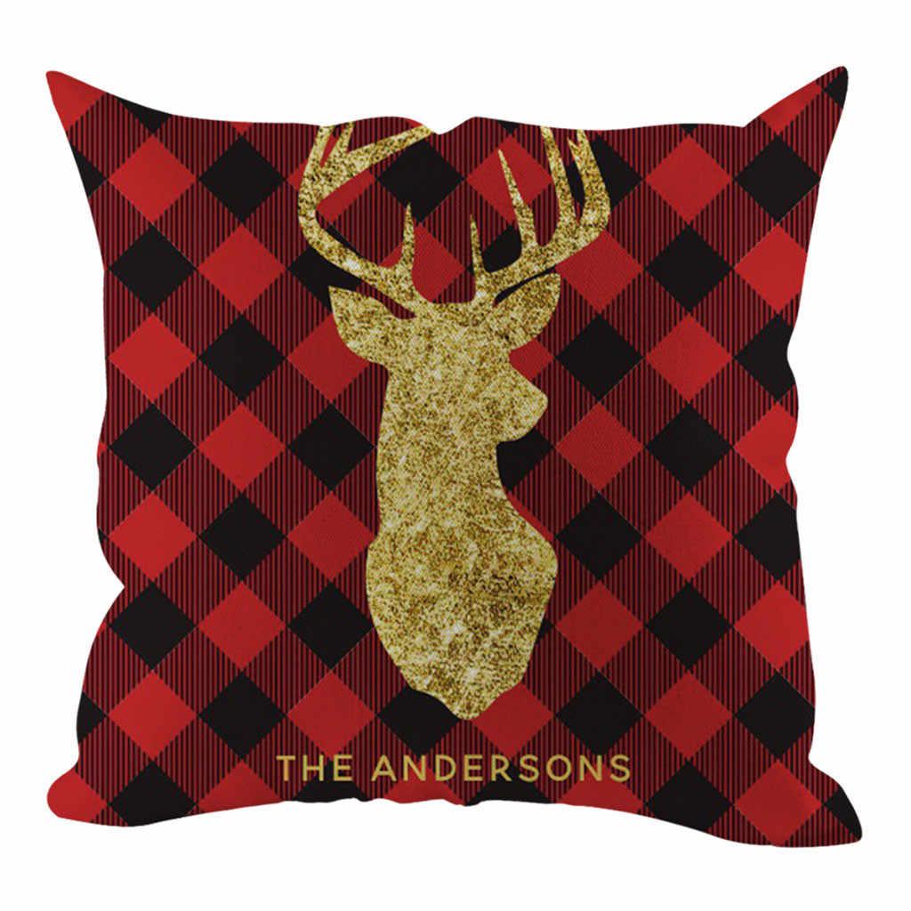 2019 Funda de almohada de Navidad Funda de cojín de sofá decorativo Funda de almohada de decoración del hogar Housse de Coussin Funda de almohada Funda Cojin
