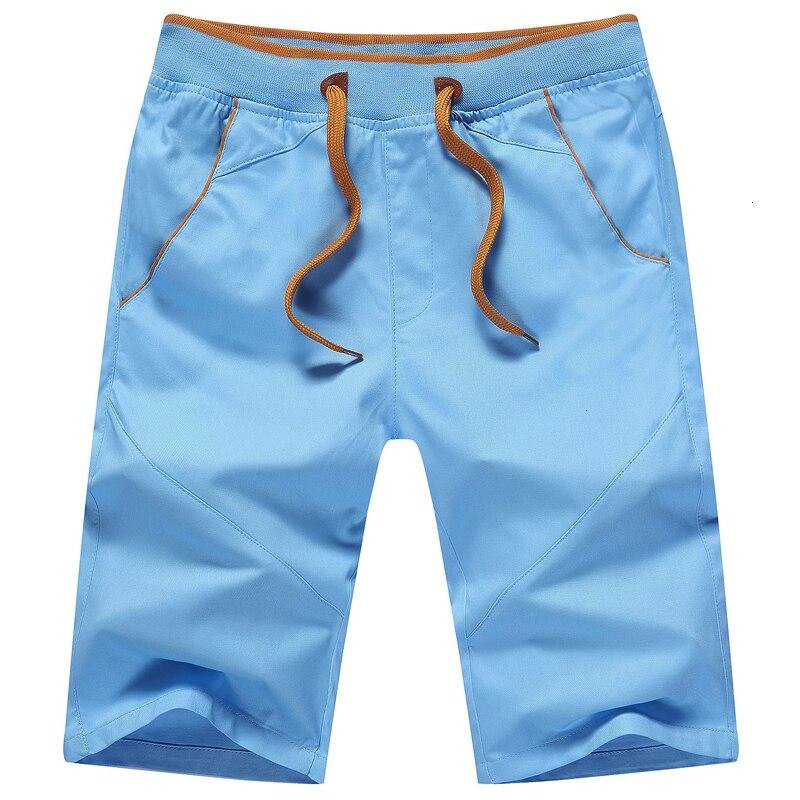 Shorts Men  Summer Casual Men Short Fashion Cotton Slim Bermuda Masculina Beach Short Trouser Knee Length Board Shorts Sp220