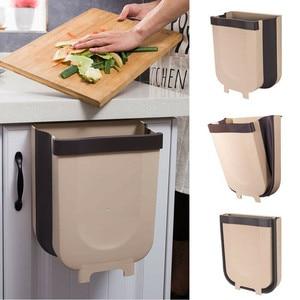 Image 1 - ห้องครัวตู้ประตูแขวนถังขยะขยะพับถังขยะห้องครัวแขวนพับแห้งเปียกแยกถังขยะ