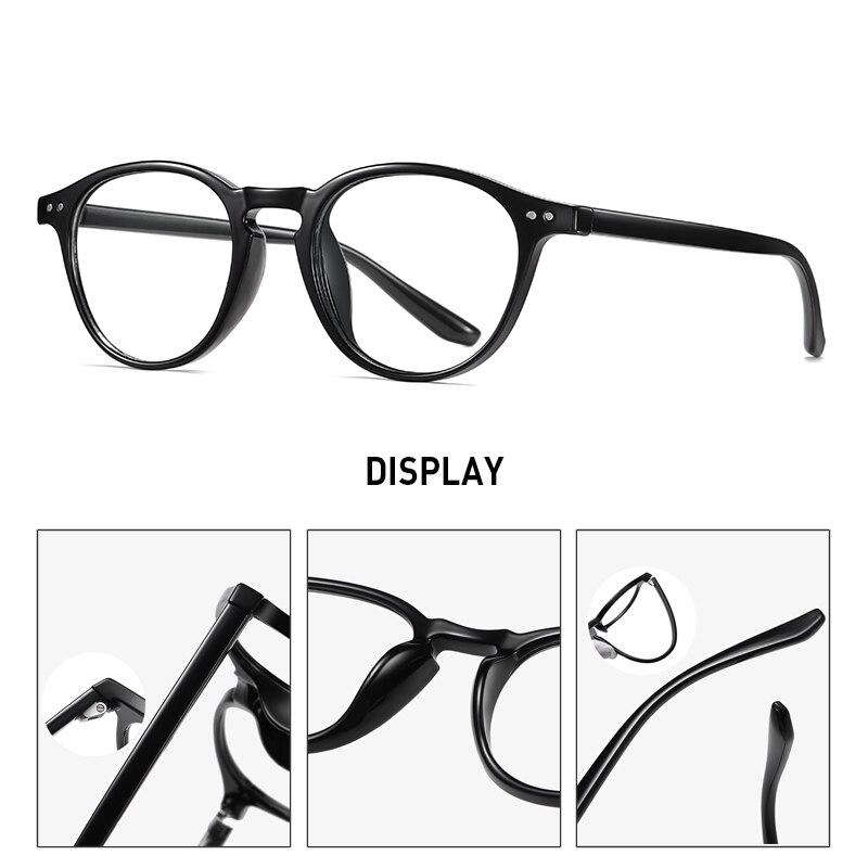 Очки tr90 круглые с защитой от синего света для мужчин и женщин