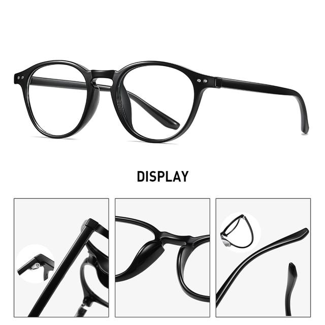 Фото очки tr90 круглые с защитой от синего света для мужчин и женщин цена