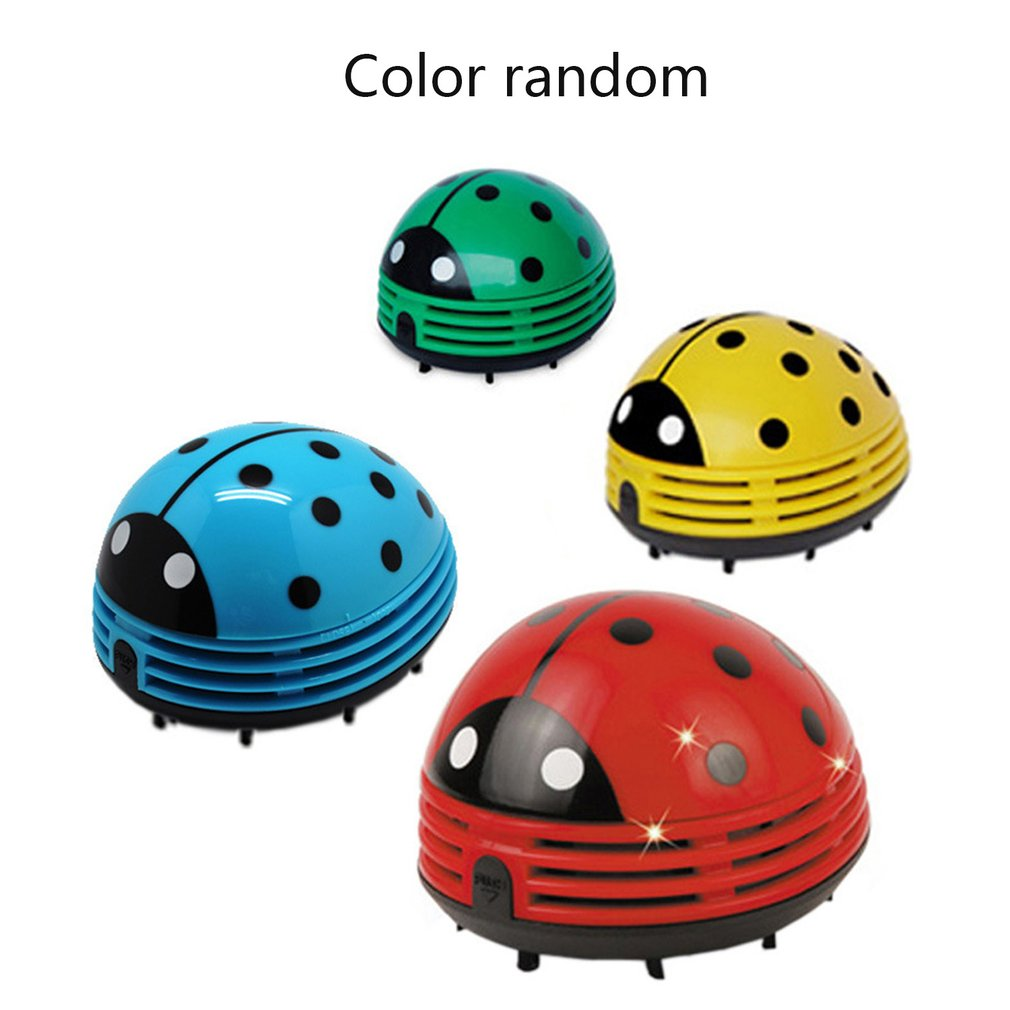 Mini Size Lovely Cute Cartoon Ladybug Shape Desktop Vacuum Cleaner Home Office Keyboard Dust Collector Cleaner