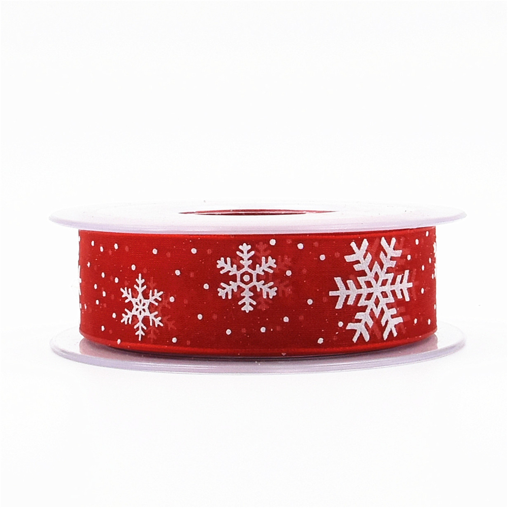 Image 5 - 5/20Meters white organza ribbon for crafts Christmas Gift Handwork  DIY red Grosgrain Ribbons Bow wedding Card Wrapping Supplies-in Ribbons from Home & Garden