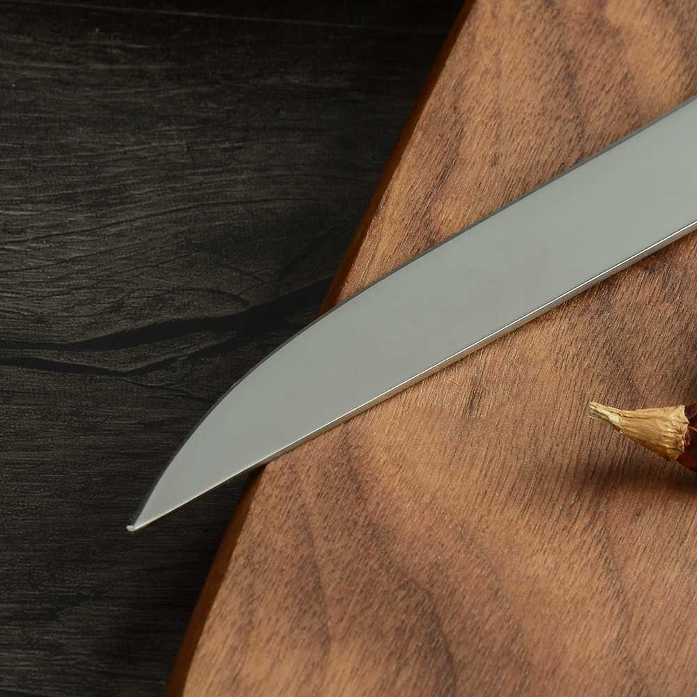 """MUZ 5.5 """"calowy styl japoński praktyczny nóż kuchenny ze stali nierdzewnej Eviscerate Fish nóż rzeźbiarski odkostnianie uboju"""
