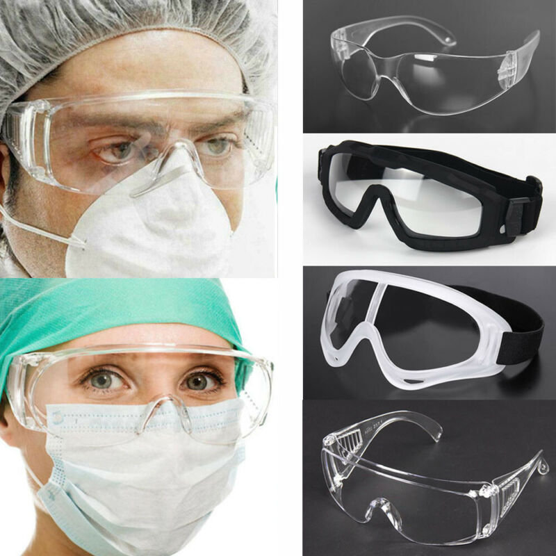 Safety Goggles Eye Protection Clear Vent Glasses Lab Work Wear Anti Dust Fog Protective Glasses 7 Style For Adults And Kids