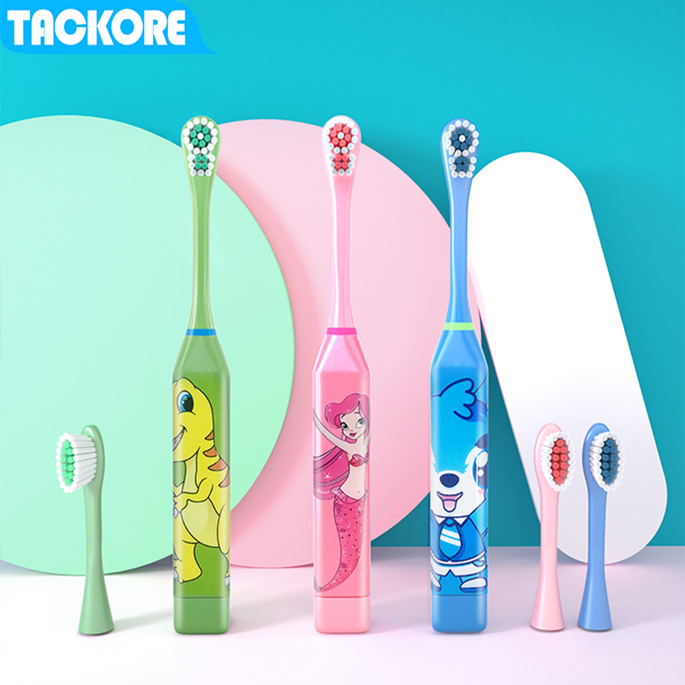 Cartoon Children Electric Toothbrush  Replaced Heads Kids Electric Teeth Brush (Battery Not Include