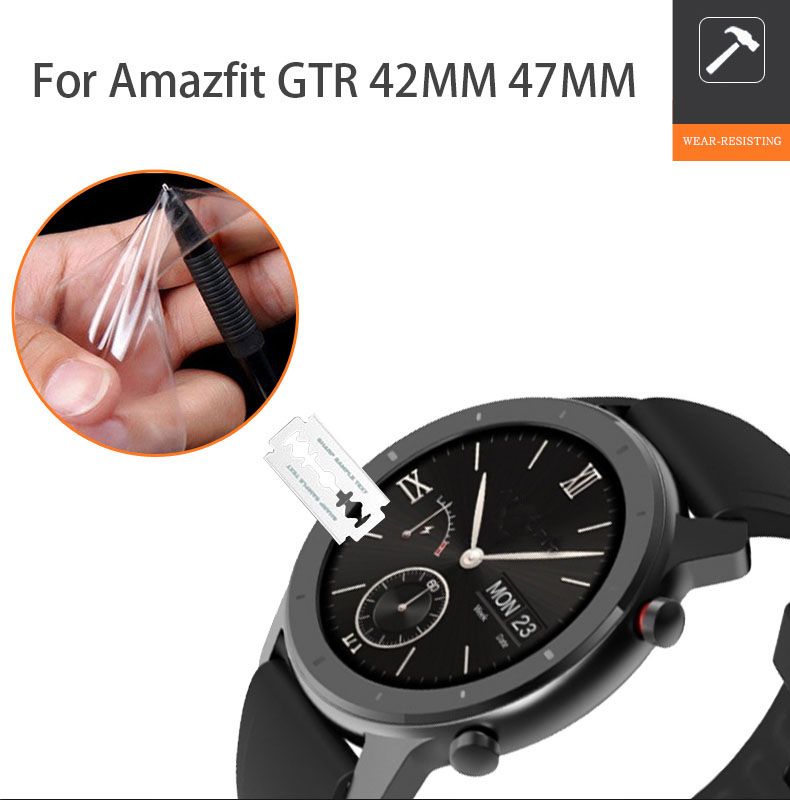 Soft TPU Screen Protector Film For Xiaomi Huami Amazfit GTR 47MM 42MM Explosion-proof Screen Protector Full Coverage FILM