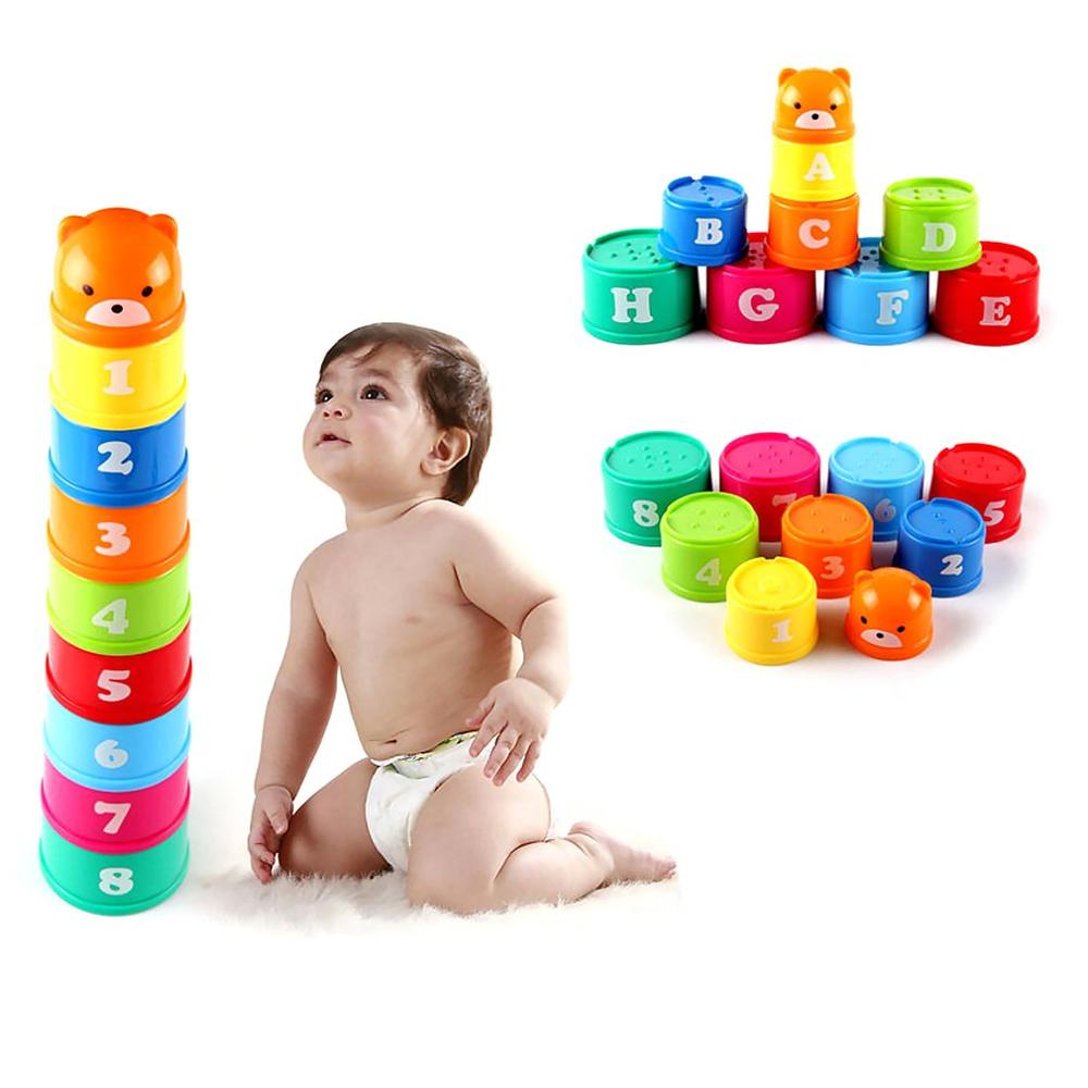 1 Set Stacking Cup Children'S Educational Toys Building Block Figures Letters Stacking Cup Toy Gifts For Early Learning Training