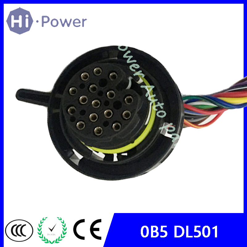 Automatic Transmission 0B5 Connector With Wires DL501 TCM Wire Connector 0B5 Plug For AUDI A4 A5 A6 A7 Q5