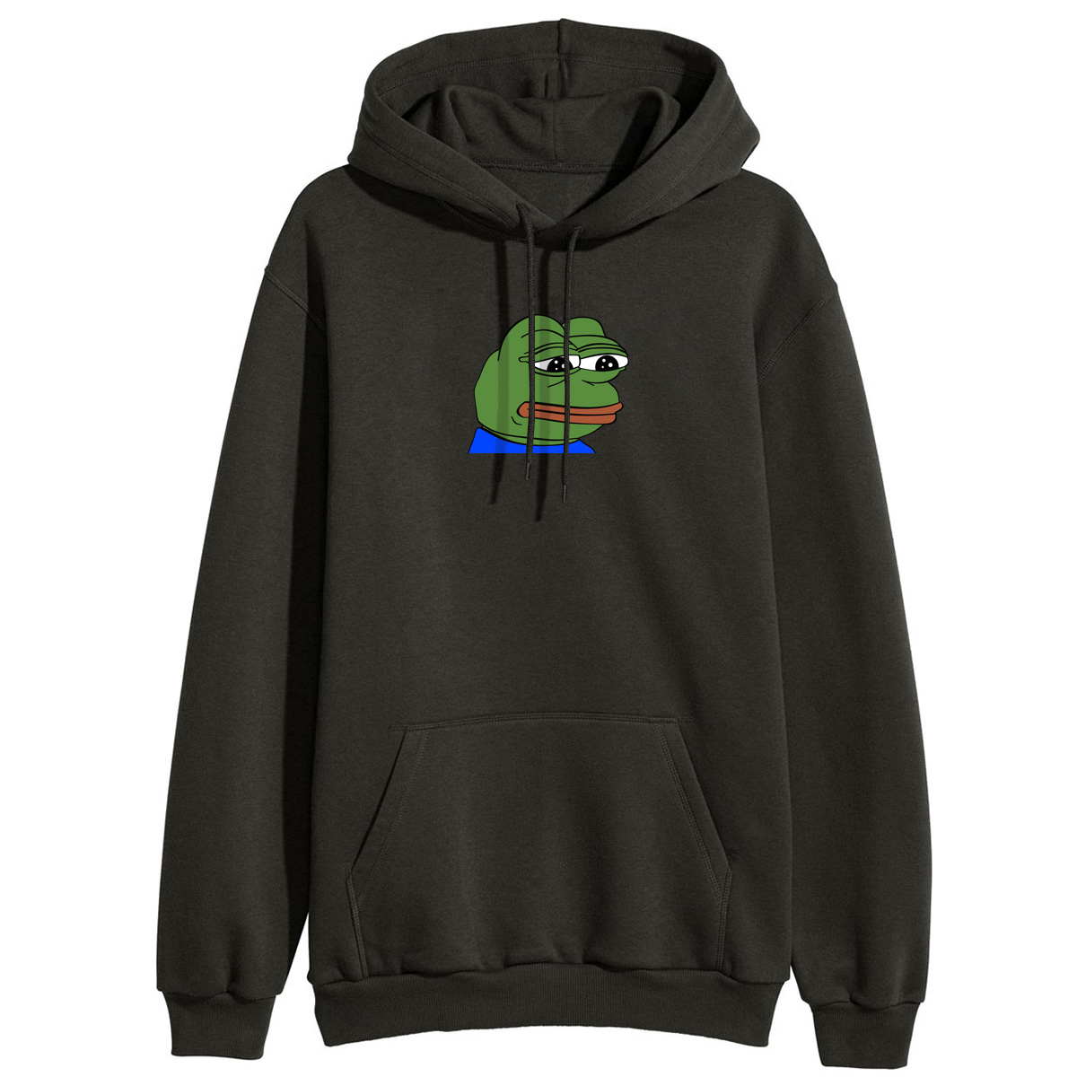 Women Sad Frog Print Sportswear Hoodies Female Kawaii Hip Hop Fleece Winter Hooded Sweatshirts Loose Fitness Hoody Pullovers