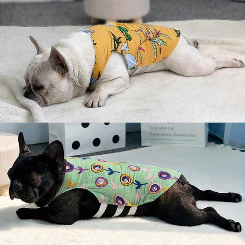 애완 동물 강아지 옷 소프트 개 조끼 얇은 중공 티셔츠 애완 동물 의류 애완 동물을위한 여름 멋진 운동복 코트
