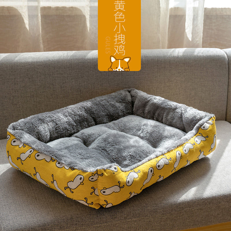 Pet Cat Dog Bed Warm Cozy Dog House Soft Nest Dog Baskets House Mat Autumn Winter Waterproof Kennel Removable Dog Bed 12