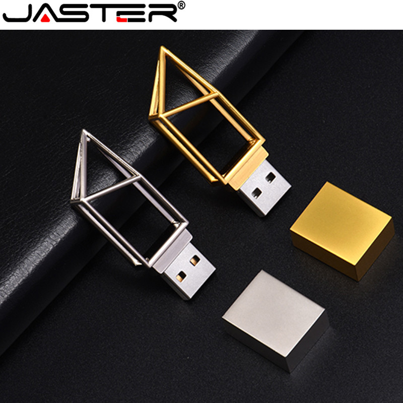JASTER Pendrive 2020 Hot Art Building Hollow USB 2.0 4GB 8GB 16GB 32GB 128GB USB Memory Flash Stick Pen Drive Custom Logo U Disk