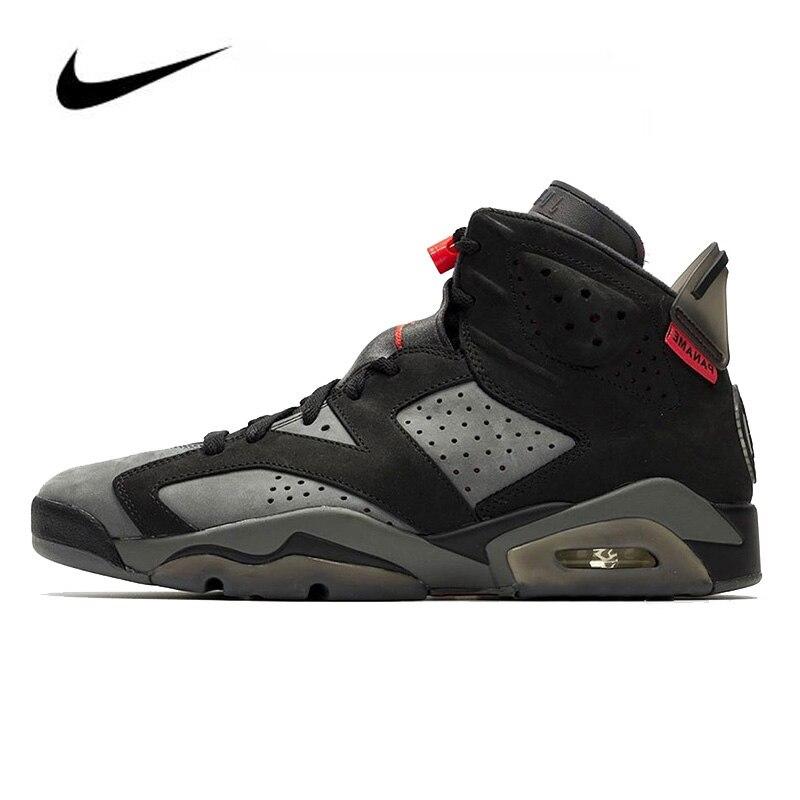 Nike Air Jordan 6 Retro PSG Paris Saint Men's Basketball Shoes Sneakers Original HighTop Basketball Unisex Jordan Women Shoes