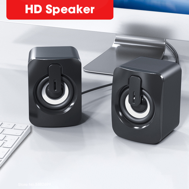 Computer Speakers Stereo Home Cinema Sound Box Subwoofer Loudspeaker for PC Laptop Notebook Soundbar Not Bluetooth Speaker 1