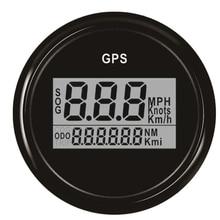 52 мм Gps Спидометр Одометр цифровой лодка спидометр датчик 0~ 999 узлов км/ч Mph для автомобиля лодки