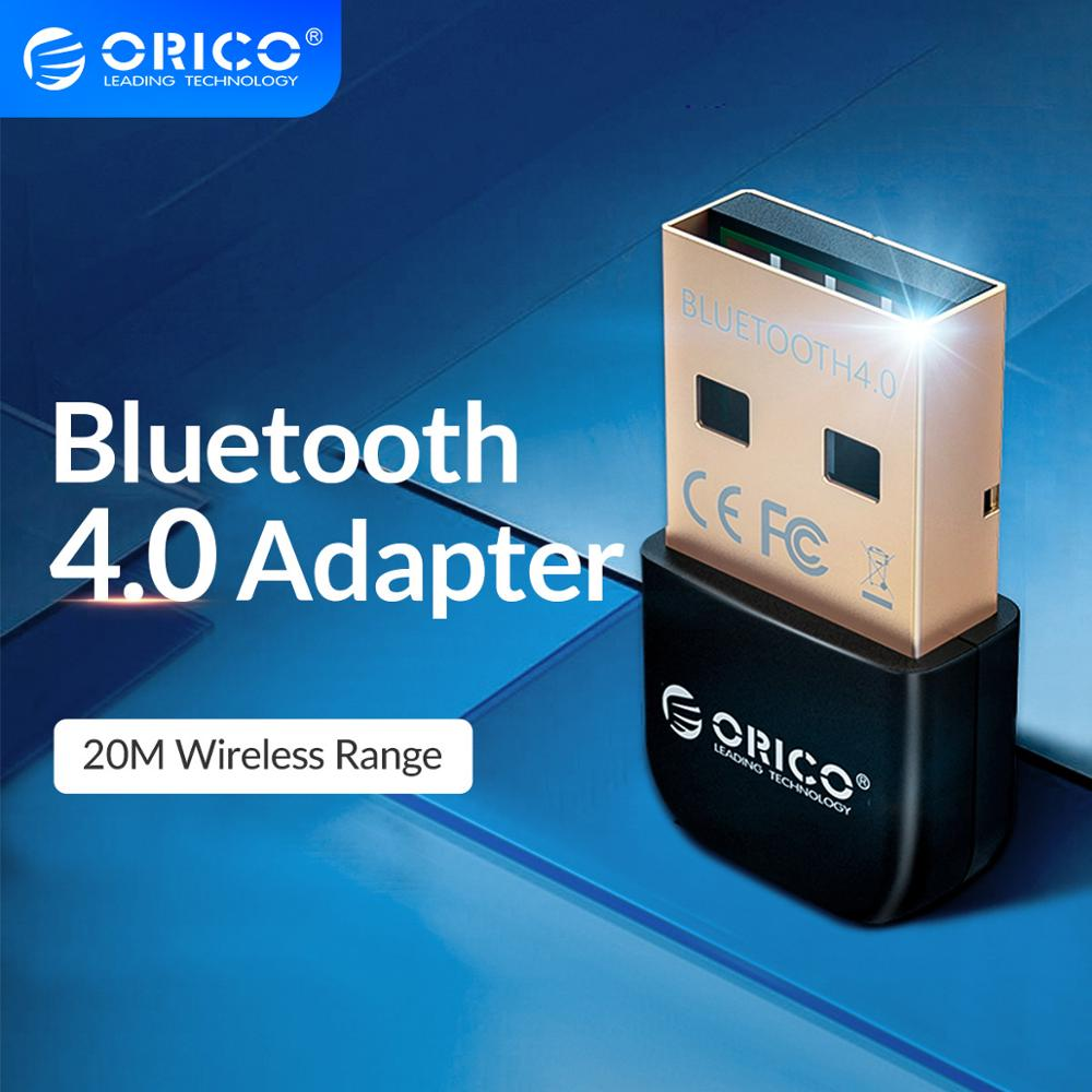ORICO سماعة لاسلكية تعمل بالبلوتوث 4.0 محول USB دونغل جهاز ريسيفر استقبال وإرسال للكمبيوتر ويندوز المتكلم ماوس لاسلكي بلوتوث الموسيقى الصوت