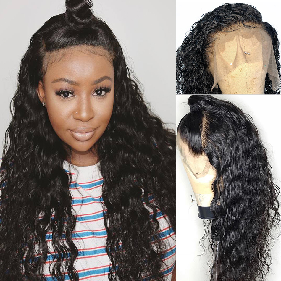 Brazilian Water Wave Wig 13*4 Lace Front Human Hair Wigs Pre Plucked Natural Hairline 150% Remy Hair Wig MIHAIR Lace Frontal Wig