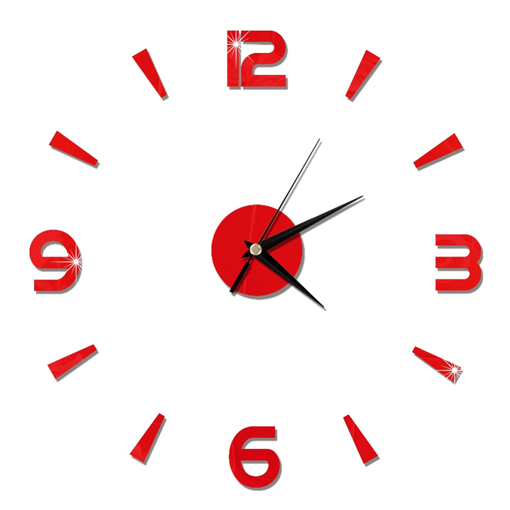 2019 New 3D Wall Clock Mirror Wall Stickers Fashion Living Room Quartz Watch DIY Home Decoration Clocks Sticker reloj de pared 25