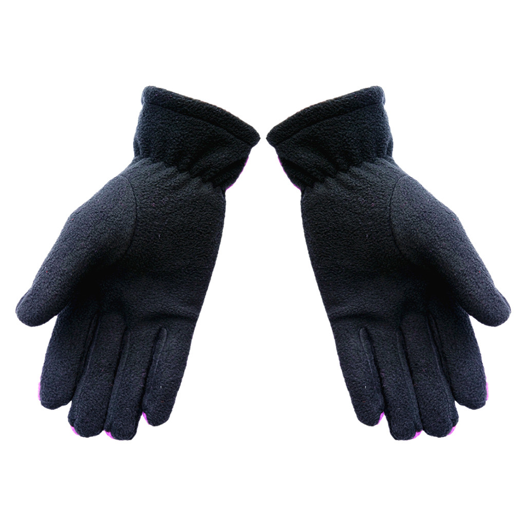 Women Men Winter Gloves Casual Patchwork Windproof Warm Wrist Full-Finger Gloves Thick Warm Gloves Cold Weather Gloves Guantes