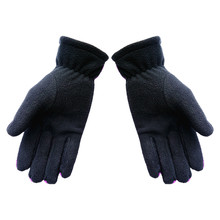 women men Winter Gloves Casual Patchwork Windproof Warm Wrist Full-Finger Gloves Thick warm Gloves Cold Weather Gloves guantes super cute cat style warm plush gloves for cold weather black pair