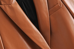 Toppies Faux Leder Jacken Single Button Mantel Frauen Herbst 2020 Cothing Braun Jacke Damen Outwear