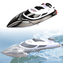 HONGXUNJIE HJ806 High Speed 35km/h 200m Control Distance Fast Ship RC Boat Black