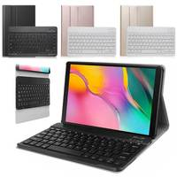 Wireless Bluetooth Keyboard Case Cover For Samsung Galaxy Tab A 8.0 inch 2019 S Pen SM T290 SM T295 Tablet Case PU Leather Cover