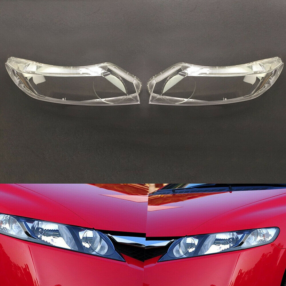 For Honda Civic 2006 2007 2008 2009 2010 2011 Car Headlight  Transparent Shell Lamp Masks Headlamp Clear Lens Auto Shell Cover