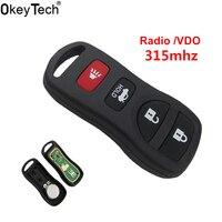 OkeyTech-clé à télécommande 4 boutons 315Mhz | Pour Nissan Tiida LIVINA X-Trail QASHQAI Paladin 2003 2004 2005 2006 2007  télécommande automatique