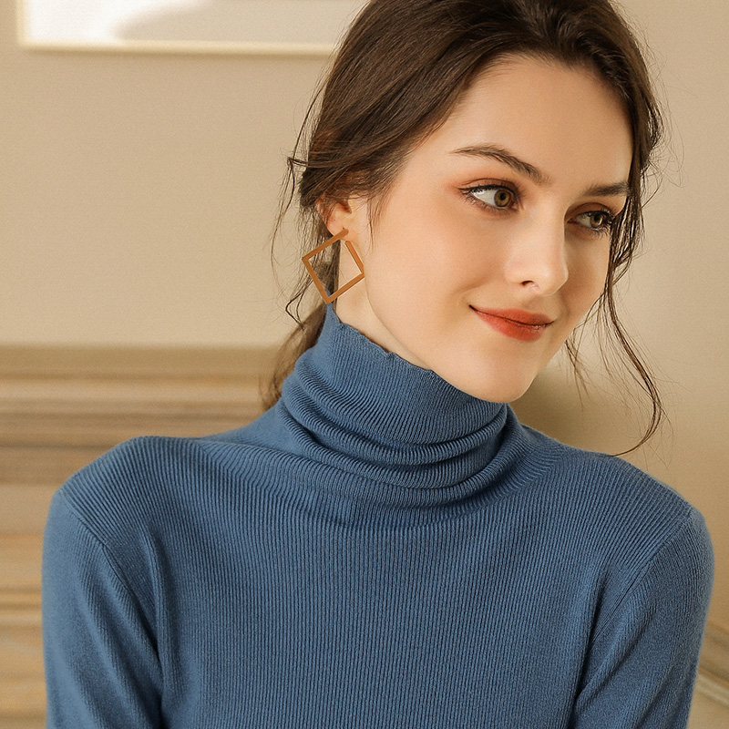 Autumn and Winter New Cashmere Sweater Women High Collar Pullover Fashion Sweater Warm Bottom Sweater 17