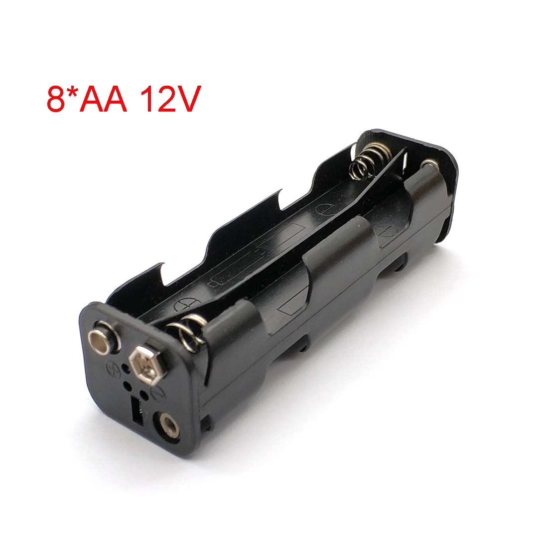 Long Strip Type 8 X AA Battery Case Holder 12V Back To Back Battery Storage Box 9V Button Battery Box