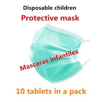 10's Pack Children's Dustproof Disposable Earmuffs Dustproof Face Mask Face Protective Mask Child Mask Mascaras infantiles