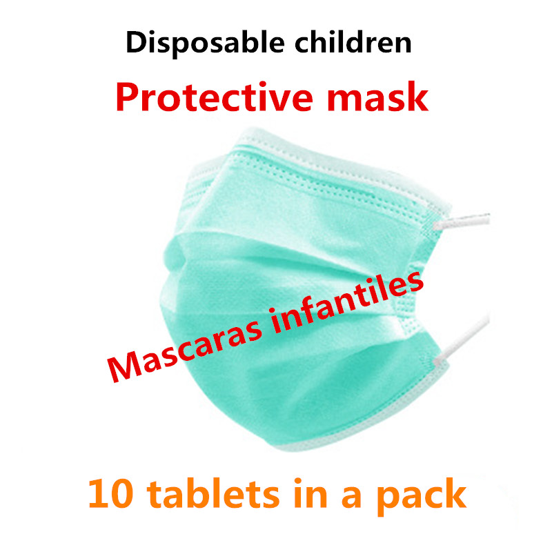 Face Protective Mask Earmuffs Disposable 10 Pack Children Cotton WOMEN Isolation Et Protection Mascaras Infantile Dustproof Is