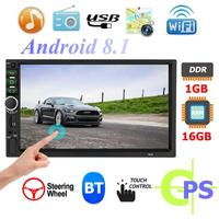 Android8.1 Quad Core Car Stereo GPS Navigation Bluetooth WiFi USB Radio Receiver Support Back View Camera Input Reversing Image