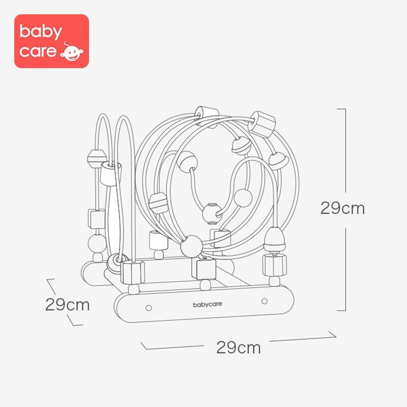 Babycare круглая головоломка 0 1 2 лет раннее развитие ребенка красочные головоломки строительные блоки действие обучение бисером - 5